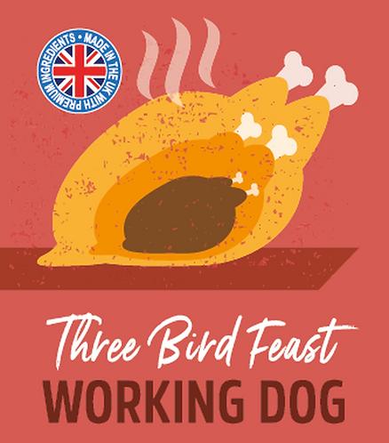 Raw Menu Working Dog 3 Bird Feast 500g