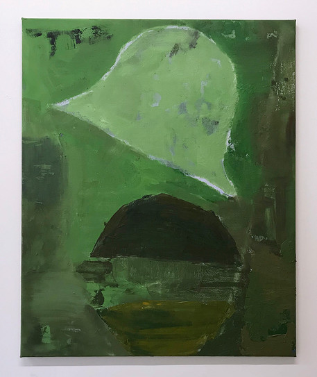 Henry-Tyrrell---Green-Light,-Oil-on-line