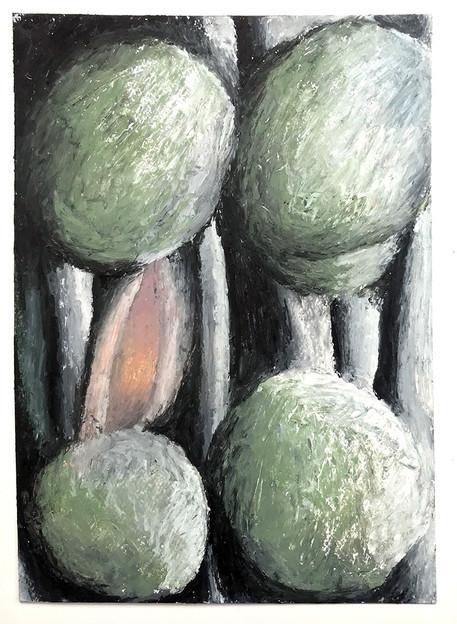 Decision,-Oil-Pastel-on-Watercolour-Pape