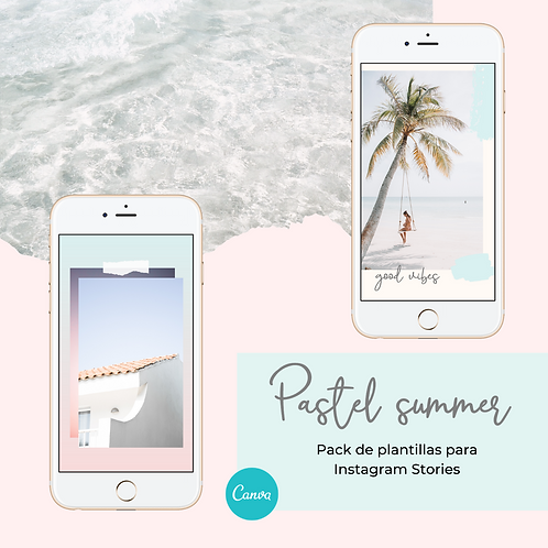 Pastel Summer: Set de Plantillas para Instagram Stories