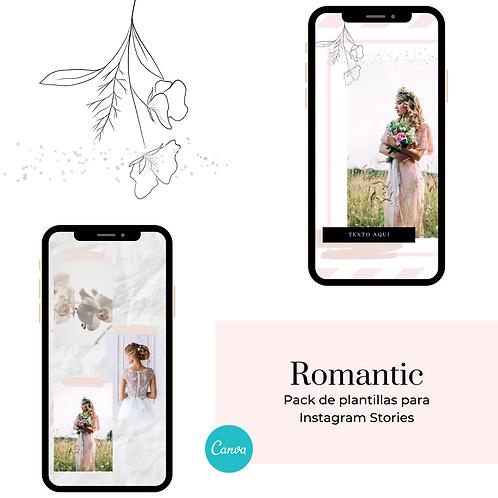Romantic: Set de Plantillas Instagram Stories