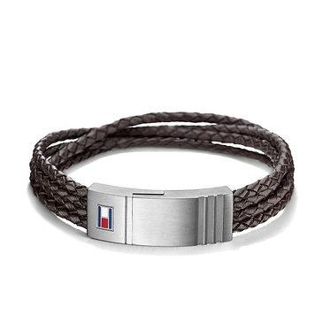 Tommy Hilfiger Men's Leather Multi-Braid Bracelet