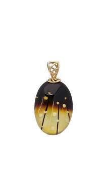 Pureosity Carved Amber Pendant