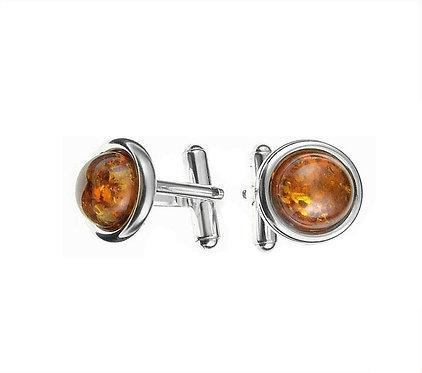 Pureosity Cognac Amber Cufflinks