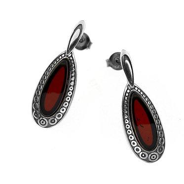 Pureosity Cherry Amber Earrings
