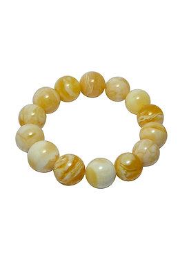 Pureosity Milky Amber Stretch Bracelet