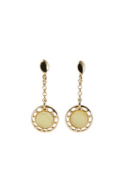 Pureosity Milky Amber Drop Earrings