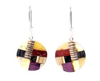Pureosity Amber and Wood Earrings
