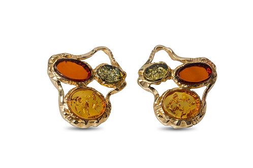 Mixed Amber Earrings