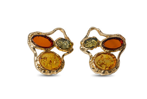 Pureosity Mixed Amber Earrings