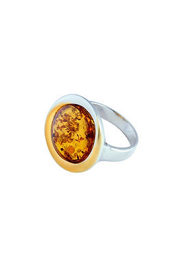 Pureosity Cognac Amber Ring