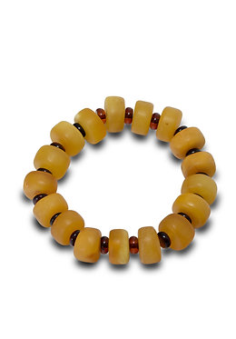 Pureosity Mixed Amber Stretch Bracelet