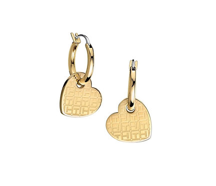 Tommy Hilfiger Heart Earrings Gold