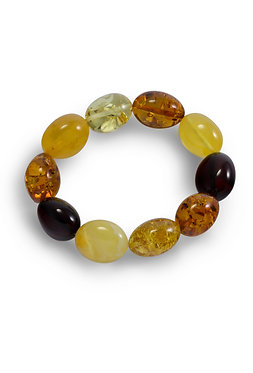 Pureosity Mixed Amber Stretch Olive Bracelet