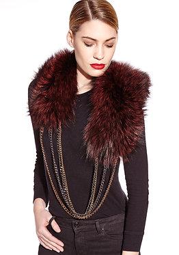 Rachel Zeitlin Silver Fox Chain Collar