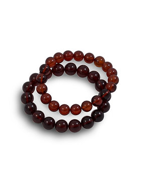 Pureosity Cherry Amber Stretch Bracelet