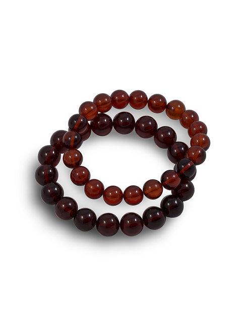 Red Amber Bracelet (Smaller)