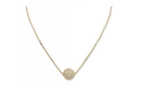 Tommy Hilfiger Pave Ball Necklace Gold