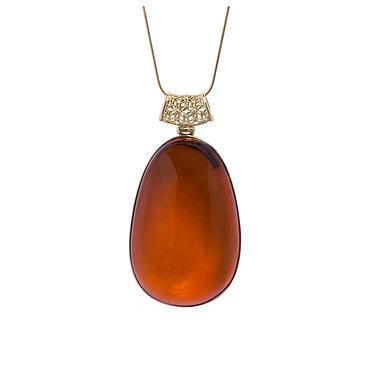 Pureosity Cognac Amber Pendant