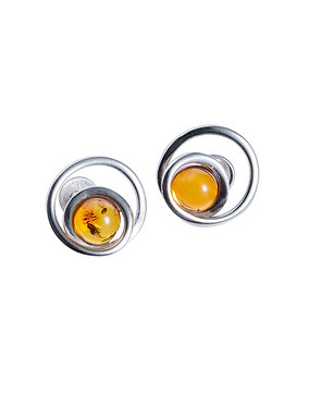 Pureosity Cognac Amber Earrings