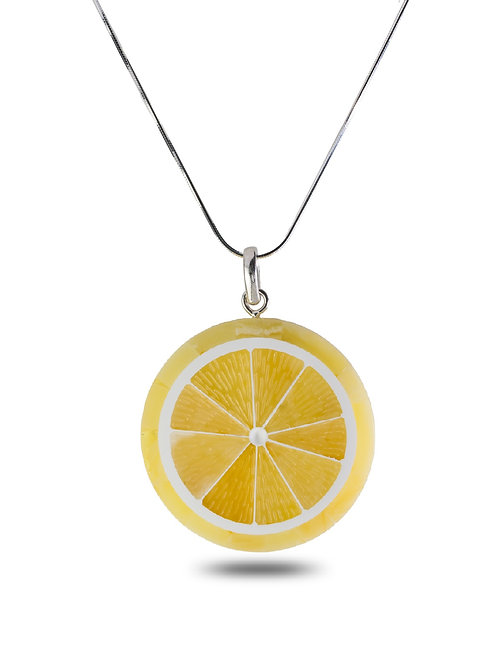 Amber Lemon Pendant
