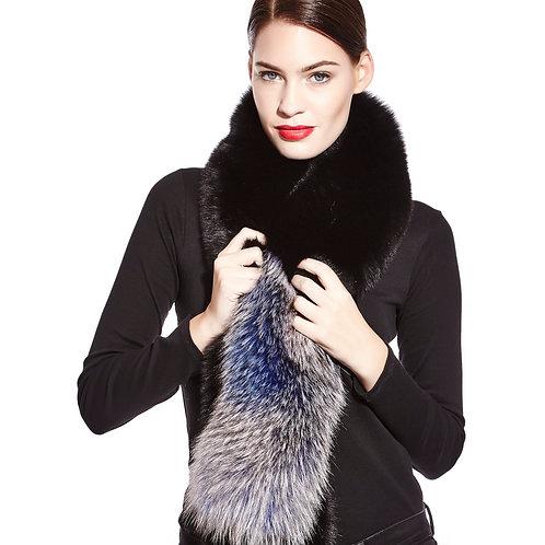 Dip-dyed fox scarf