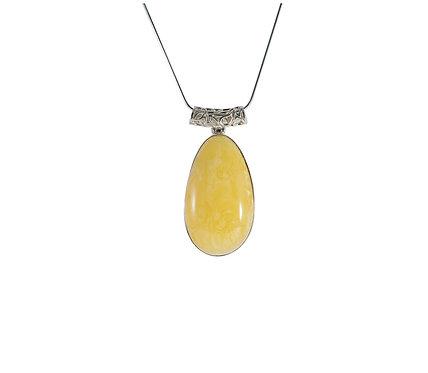 Pureosity Milky Amber Silver Pendant