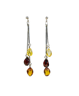 Pureosity Mixed Amber Dangle Earrings