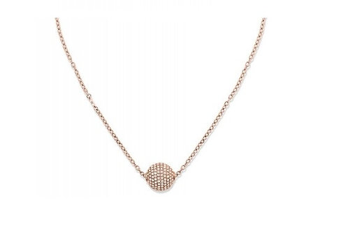 Tommy Hilfiger Pave Ball Necklace Rose Gold