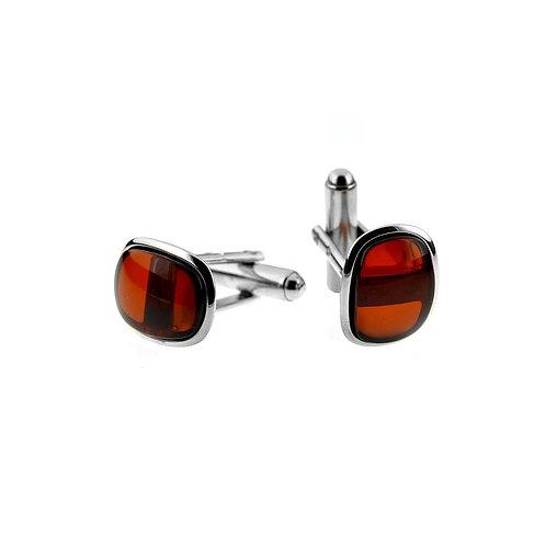 Red Amber Cufflinks