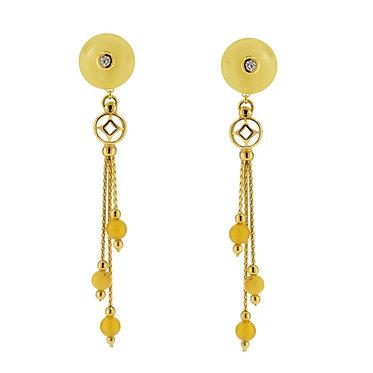 Pureosity Milky Amber Earrings