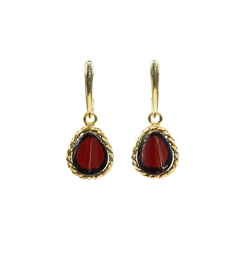 Pureosity Cherry Amber Drop Earrings