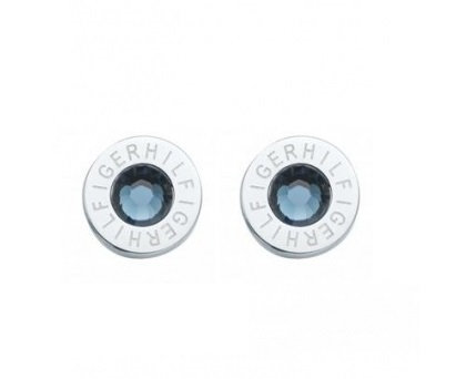 Tommy Hilfiger Stud Earrings Silver Blue