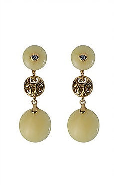 Pureosity Milky Amber Earrings
