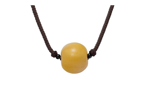 Pureosity Milky Amber Unisex Necklace