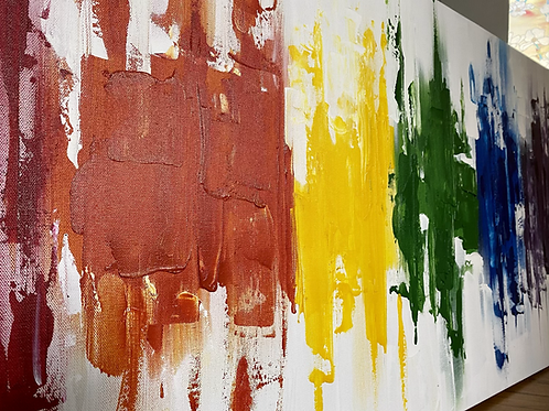 Rainbow Abstract 4'x2'