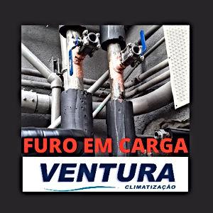 FURO EM CARGA TREPANAÇÃO TUBOS HIDRÁULICA
