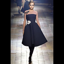 LANVIN Flower applique Runway dress