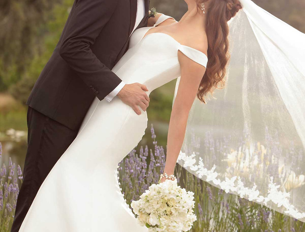 D2477 | Simple Off The Shoulder Wedding Gown by Essense of Australia