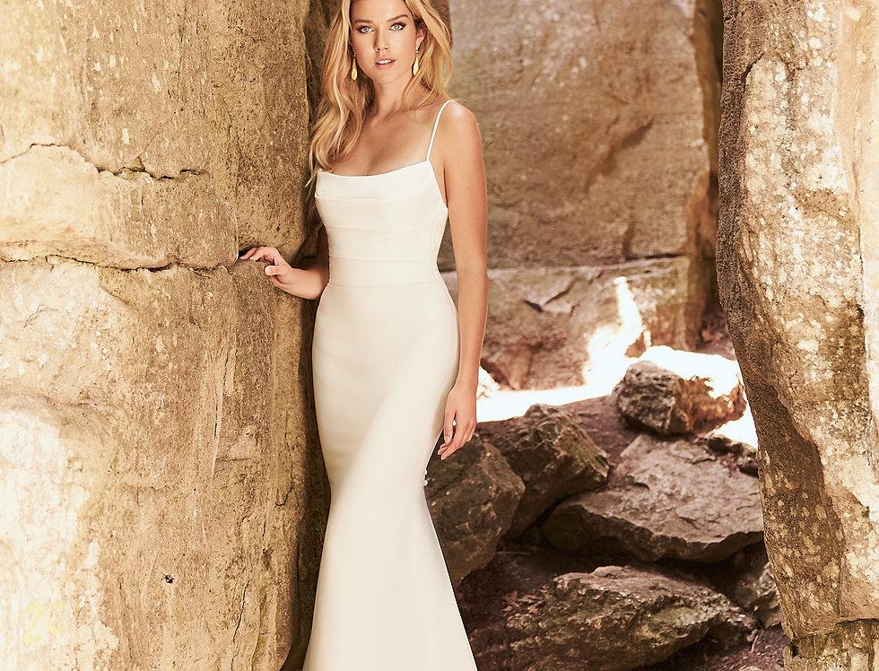 2328 | Hip Hugging Wedding Dress by Mikaella