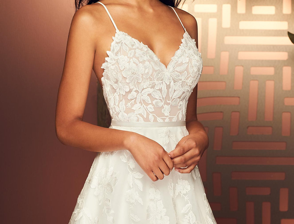 4895 | Enchanting Lace Wedding Dress by Paloma Blanca