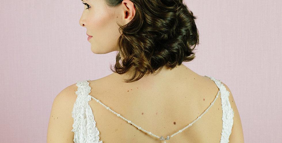 Ennis Bridal Back Drop Necklace