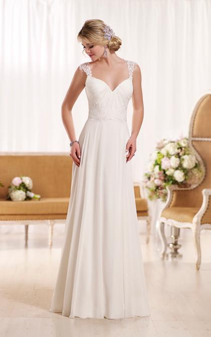 D1962 Designer Beach Wedding Dress By Essense Of Australia