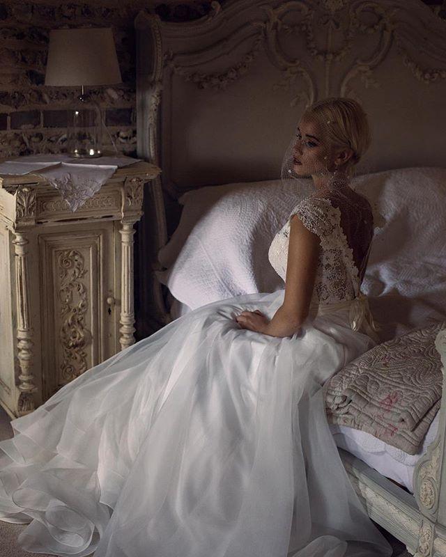 A ballgown of modern elegance, classic w
