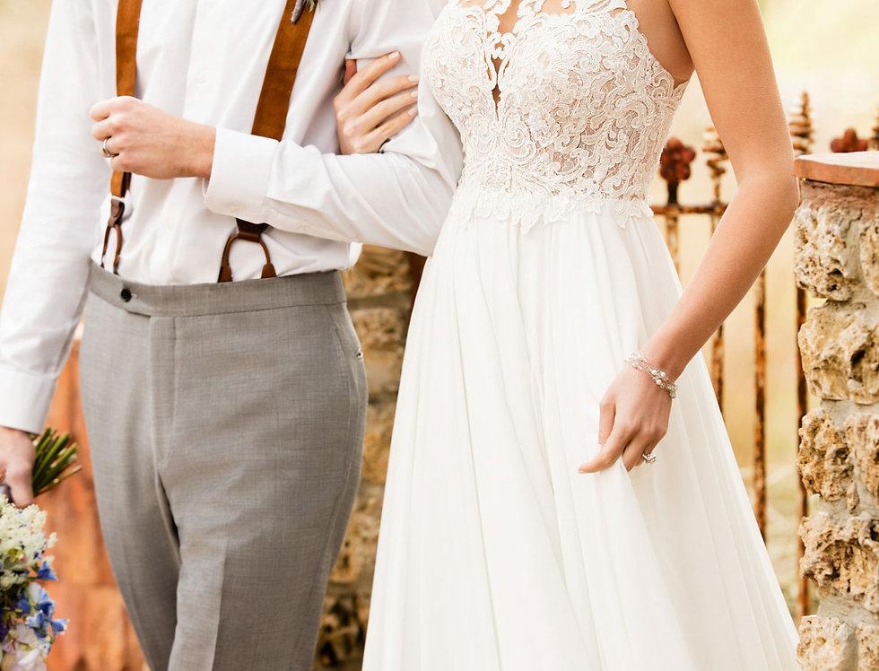 D2371   Airy Chiffon Boho Wedding Dress by Essense of Australia