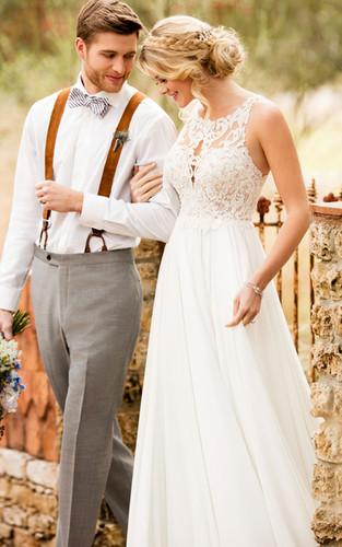37e0c7a8a8ba6 D2371   Airy Chiffon Boho Wedding Dress by Essense of Australia