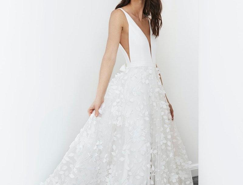 Alika | 3D Floral Wedding Dress by Savin London