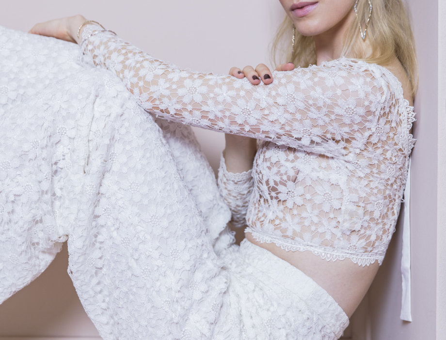 Eponine / Lace Wedding Top by Zetterberg Couture