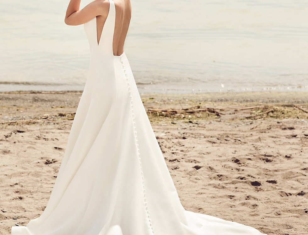 2115 | Sleek modern Wedding Dress by Mikaella