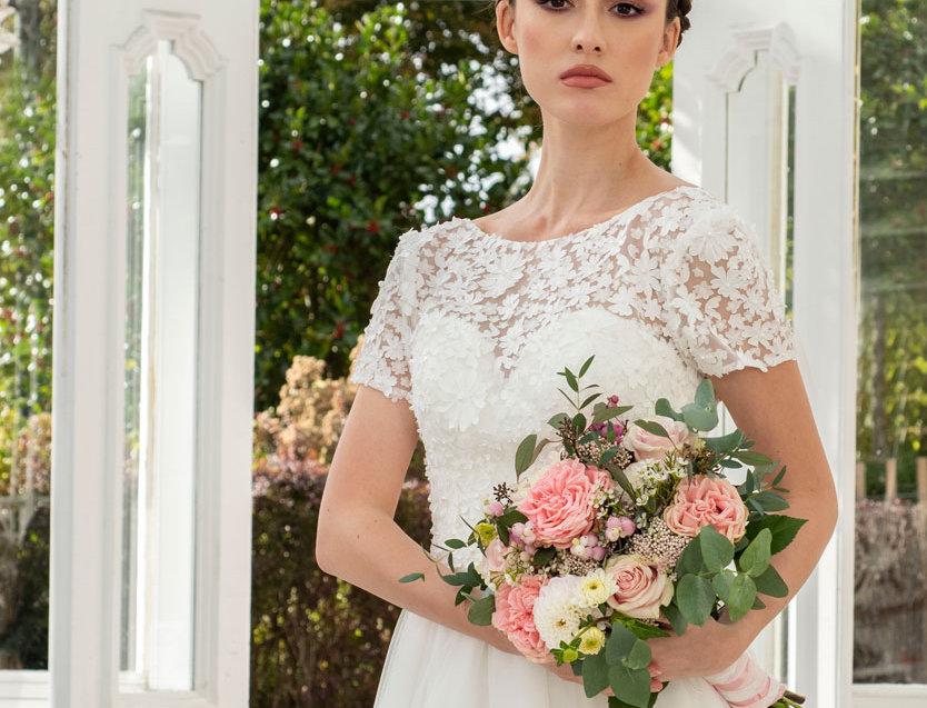 Jenna | 3-D Flower Ball Gown by Freda Bennet